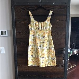 CAbi yellow floral dress